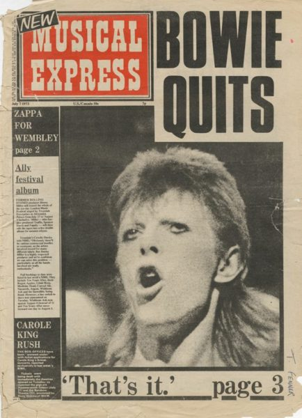 David Bowie, NME, Charles Shaar Murray